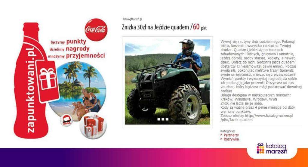 Vouchery dla firm: Projekt Zapunktowani, współpraca Katalogu Marzeń i firmy Coca-Cola
