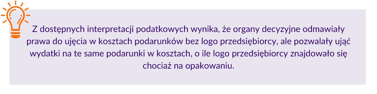 Podarunki dla klientów powinny być obrandowane logo przedsiębiorcy